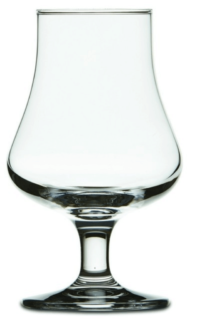 Nosing drink glass