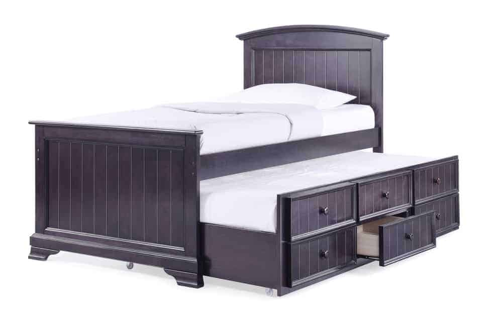 Bed with headboard and storage