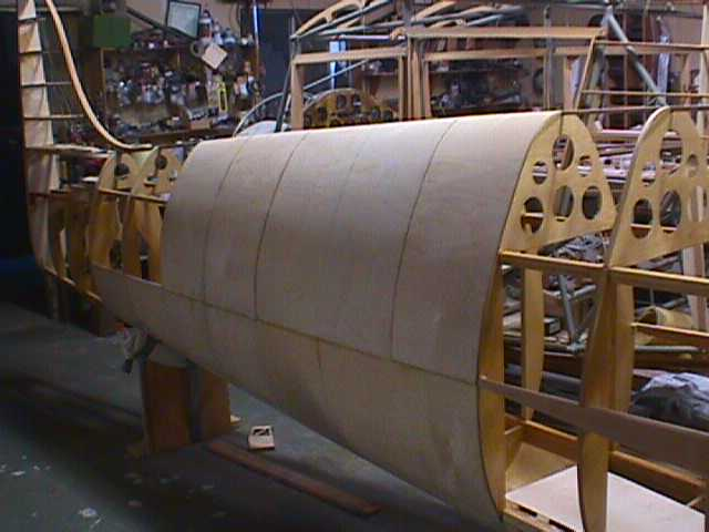 Ply-balsa-ply sandwich skin construction.