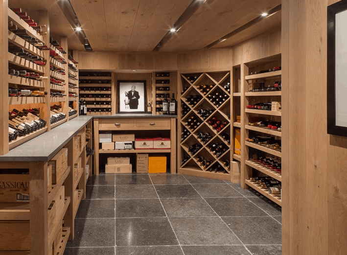 Large climate-controlled wine cellar with 1,500 bottle capacity