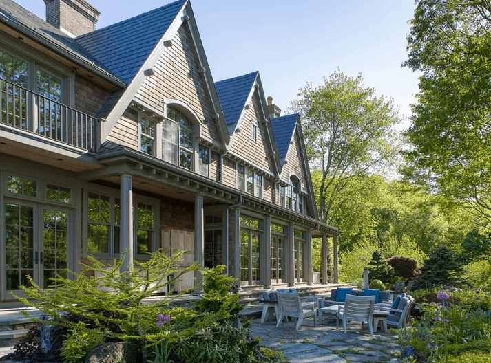 Front facade of Bruce Willis' Bedford, NY home.