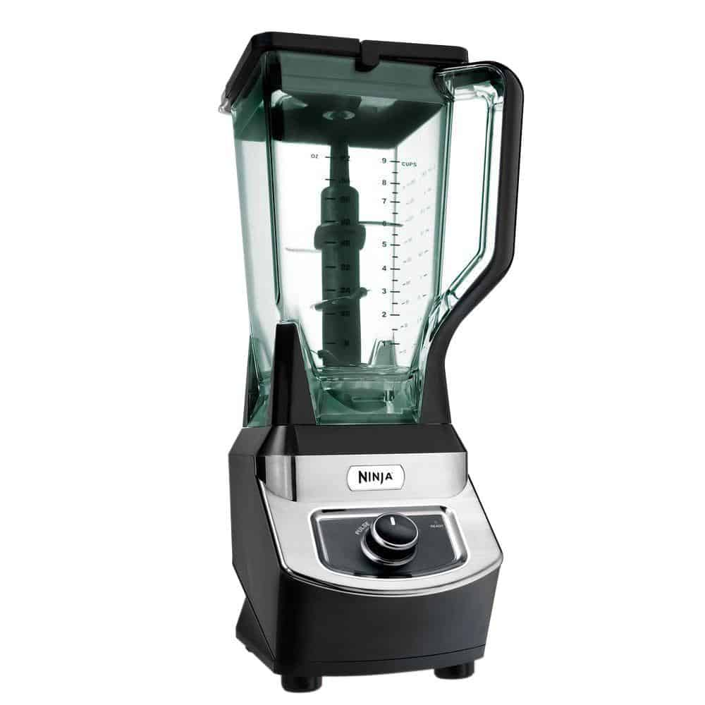 Black Ninja countertop blender.