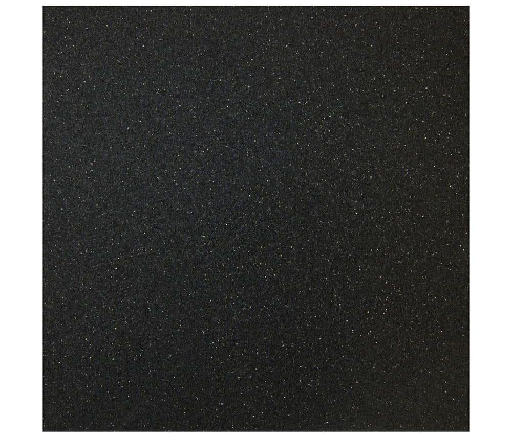 Black rubber flooring with noise isolation, comfort and vibration absorption