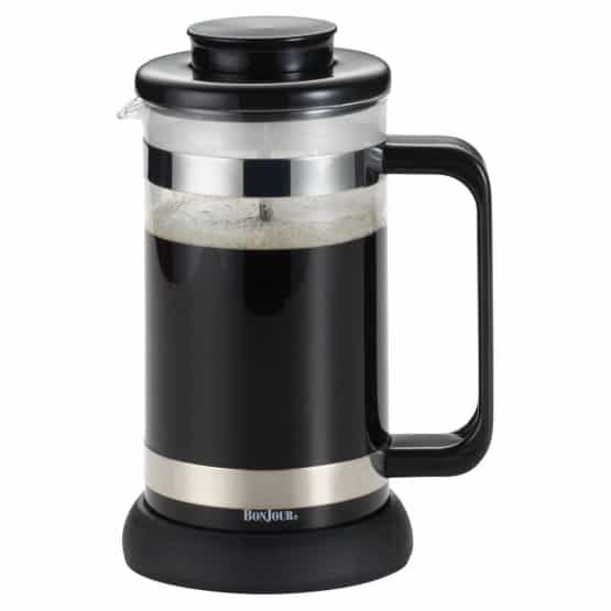 Black and silver, 8-cup french press.