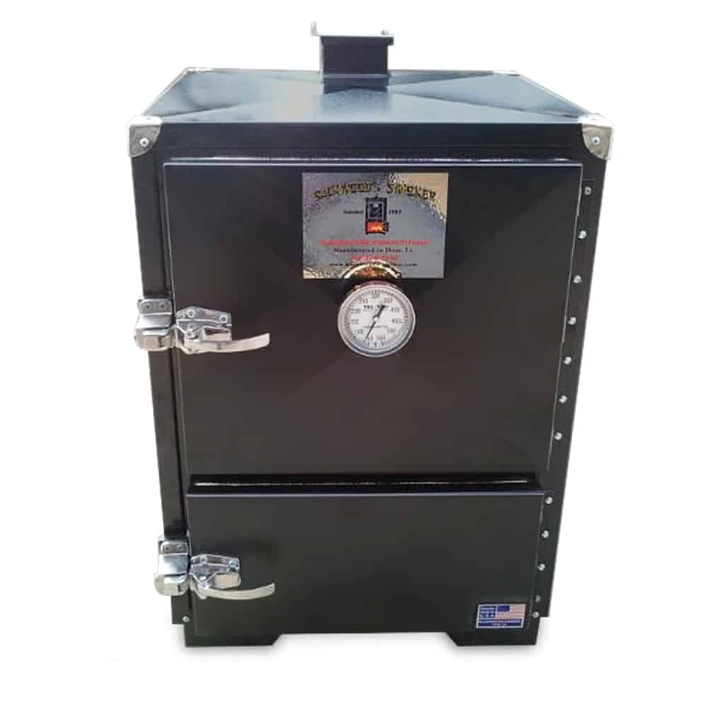 Box smokers, which are also known as cabinet smokers, vault smokers, and block smokers are essentially a tall box with a cooking chamber inside of it.