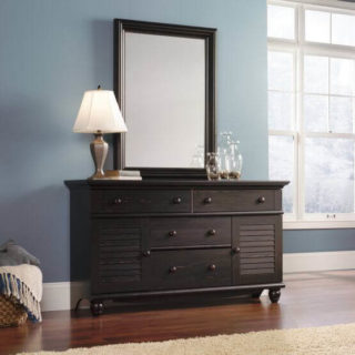 A dresser with soft-close technology.