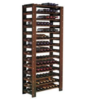 Wine rack made of solid wood.