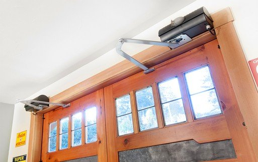 Photo of motor for swing-out carriage garage door opener