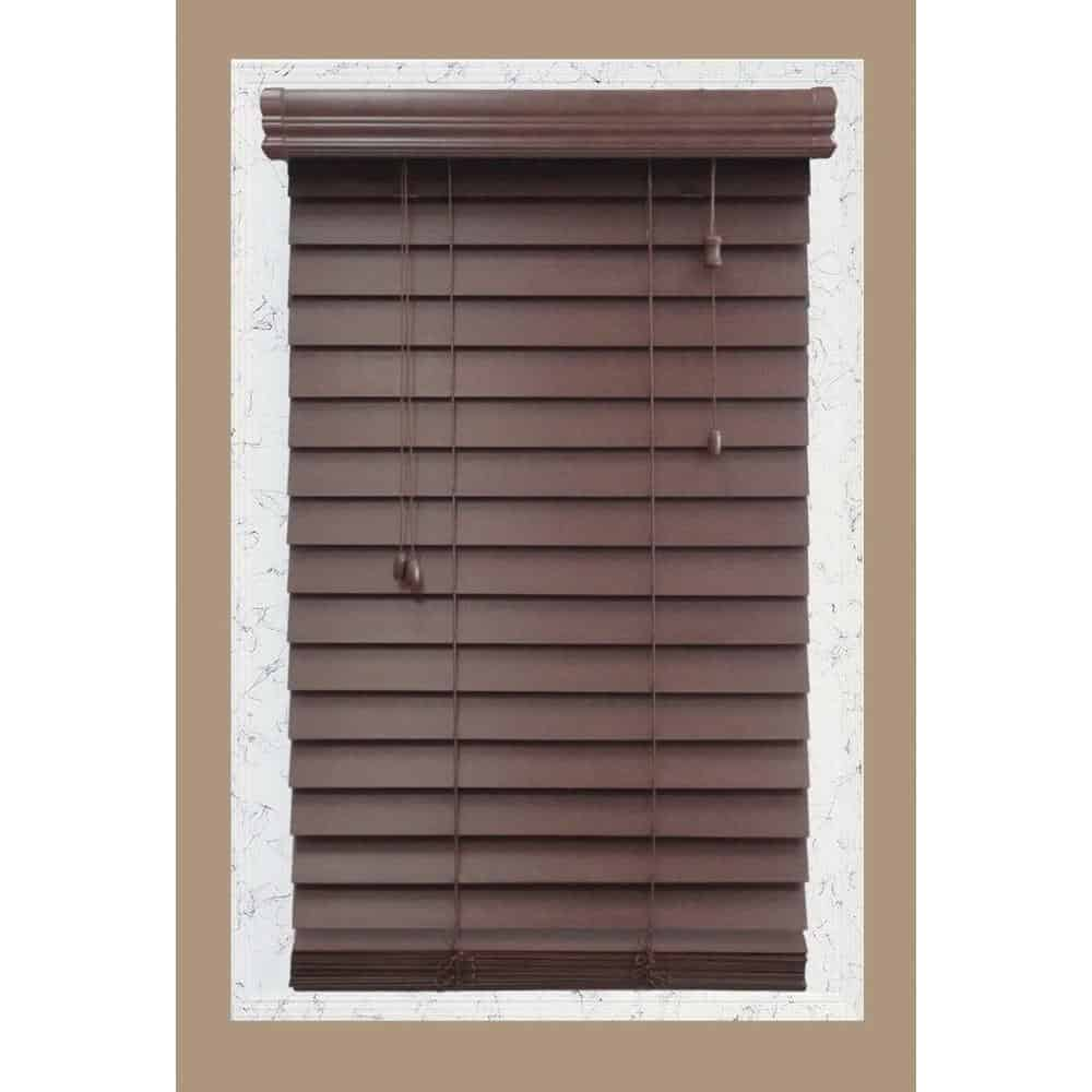 Wooden blind made of 100 premium basswood.