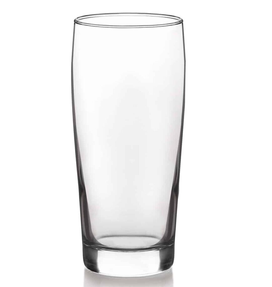 Clear and durable, Willi Becher type of beer glass.