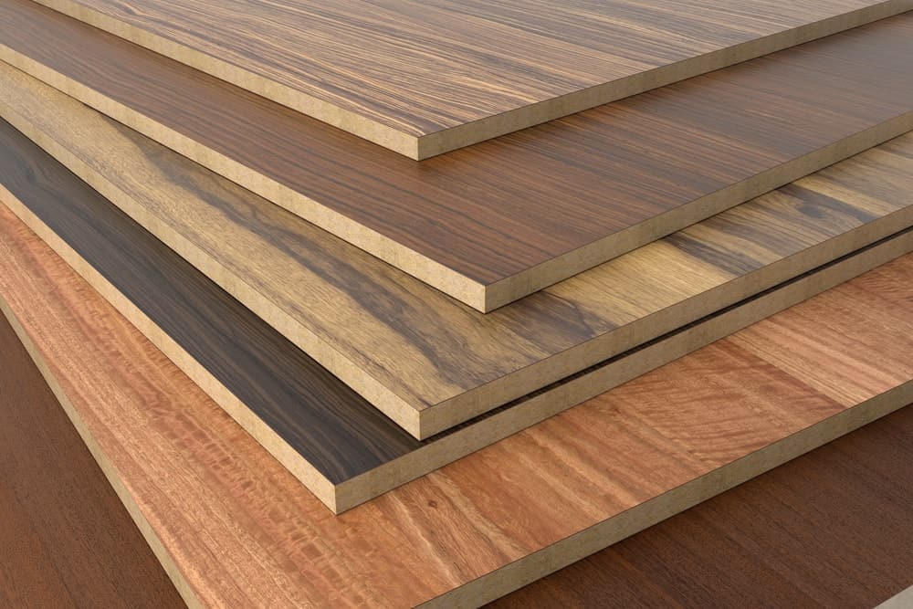 Composite woods is similar to traditional plywood in terms of sizes but have regular wood layers on the side and have external layers consist of fiberboard covered with a layer of hardwood.