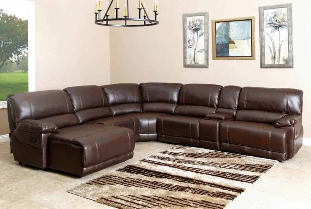 6 piece sectional sofa with kiln-dried hardwood frame and no-sag sinuous spring construction.