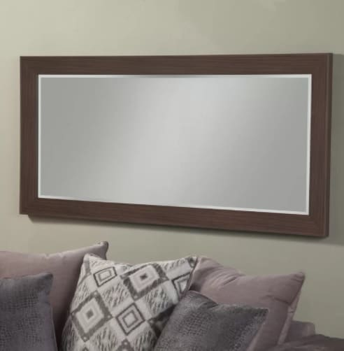 A full-length horizontal mirror.
