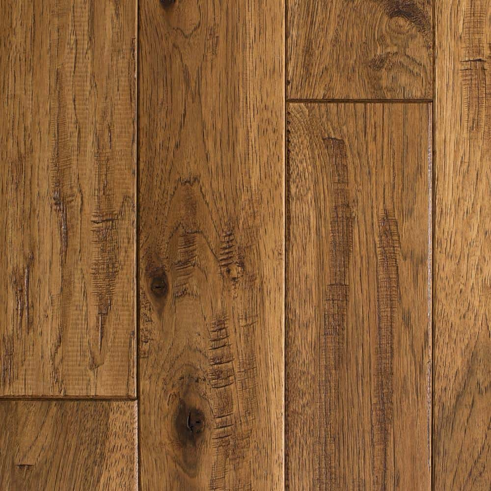 Dark hickory flooring with a vintage touch.