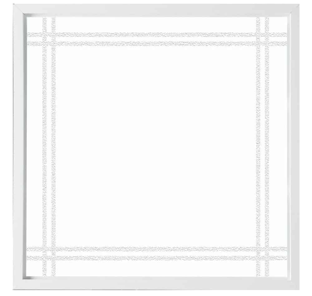 Unique and decorative, tempered glass window.
