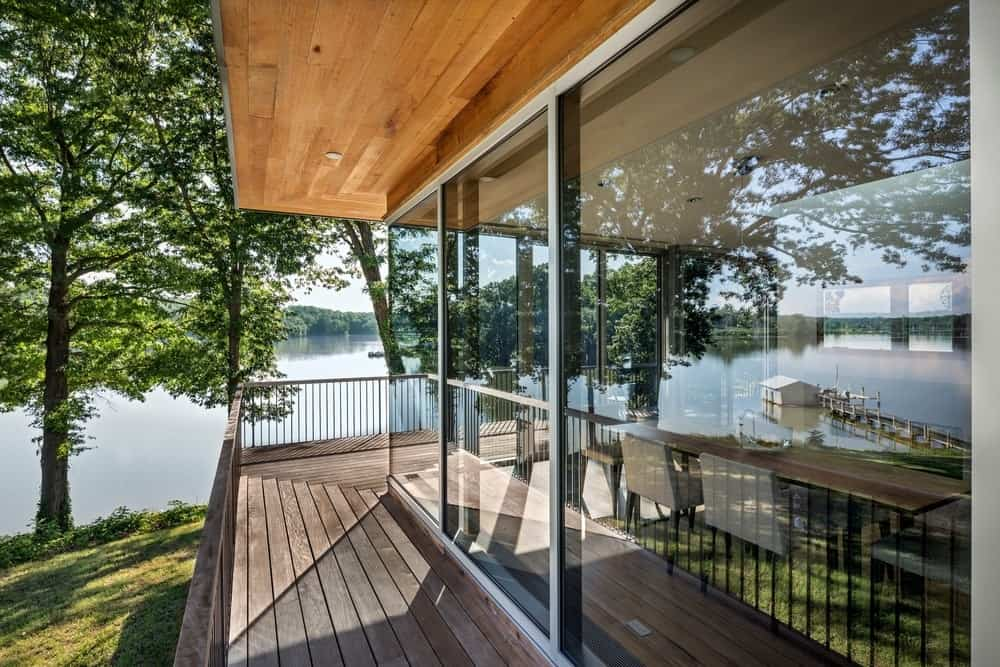 The deck of the house overlooking the nice landscape view. Photo Credit: Francis Dzikowski/OTTO