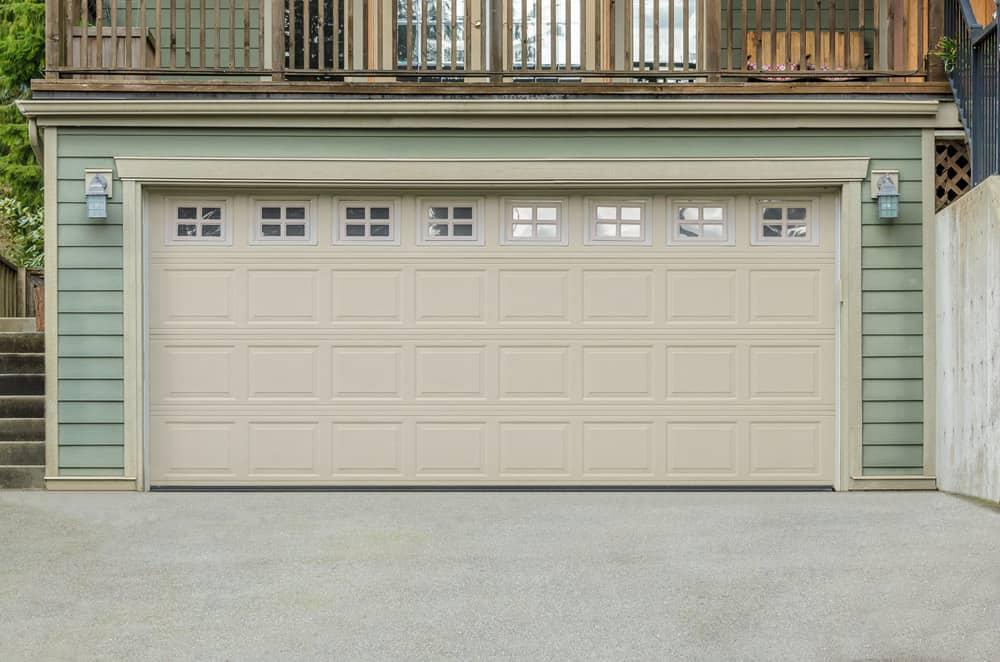 Full double wide garage door.