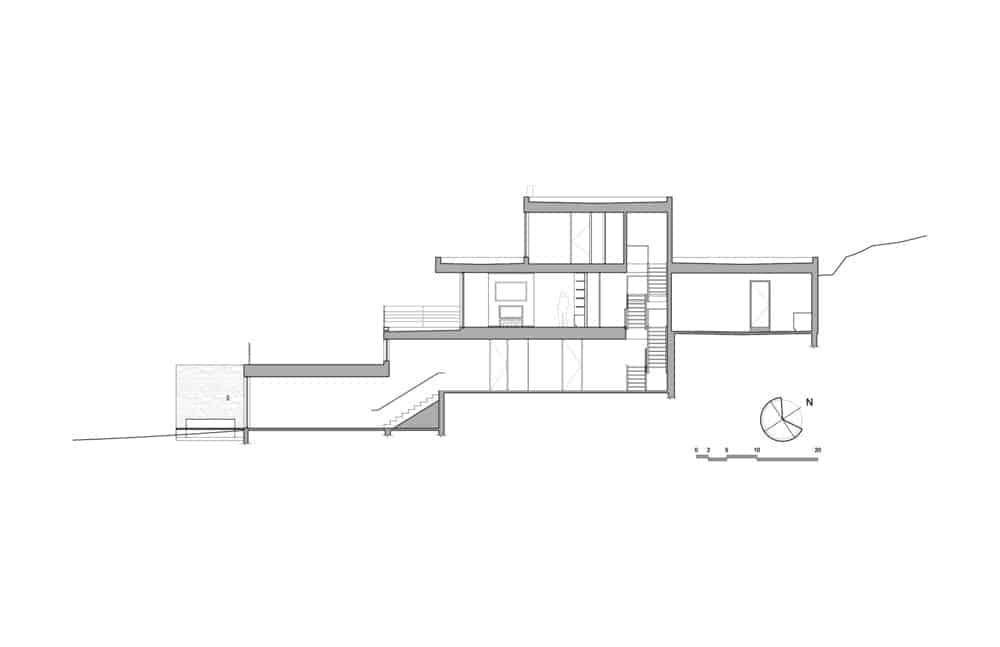 Estrade residence house's blueprint. Photo Credit: MU Architecture