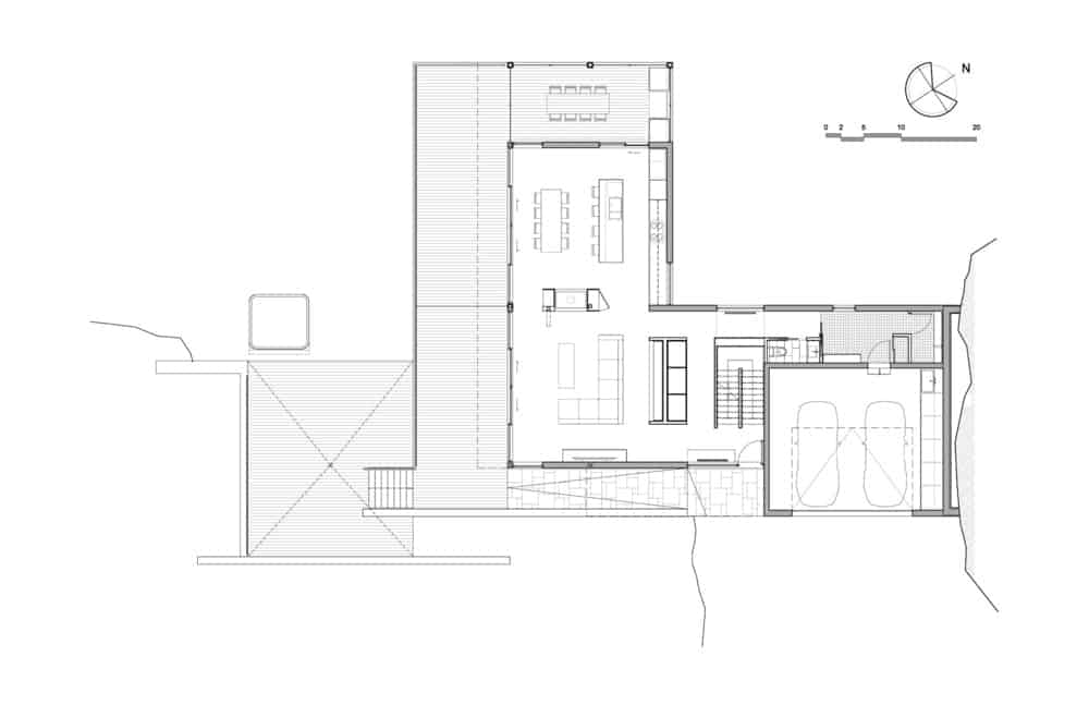 The blueprint of the Estrade residence. Photo Credit: MU Architecture