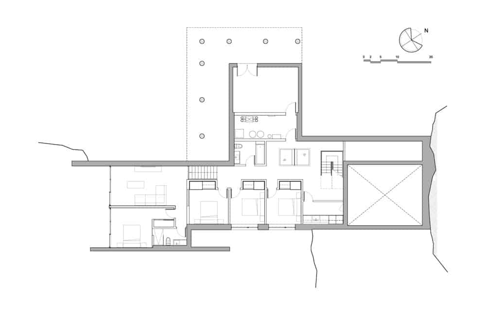 Estrade residence blueprint. Photo Credit: MU Architecture