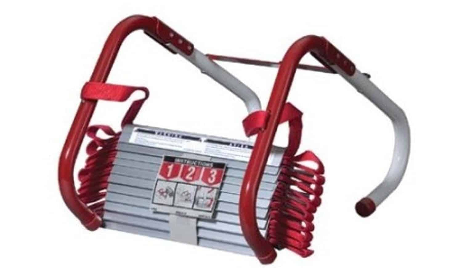 Fire escape ladder with tangle-free design.