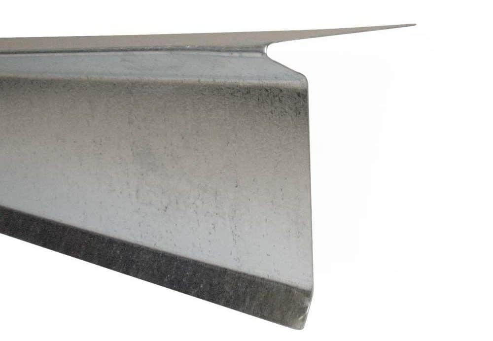 Galvanized steel drip edge.