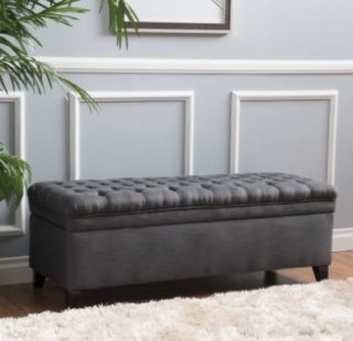 A large ottoman that provides a statement piece, extra seating and plenty of storage space.