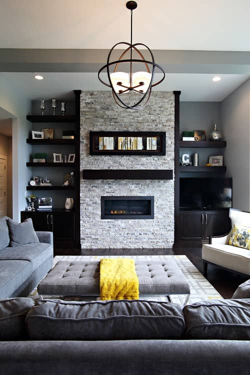 Small gray living room.