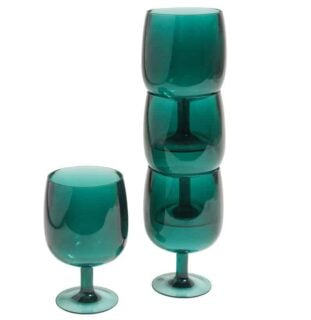 Colored bar glass with short stem, perfect for beach parties and getaways.
