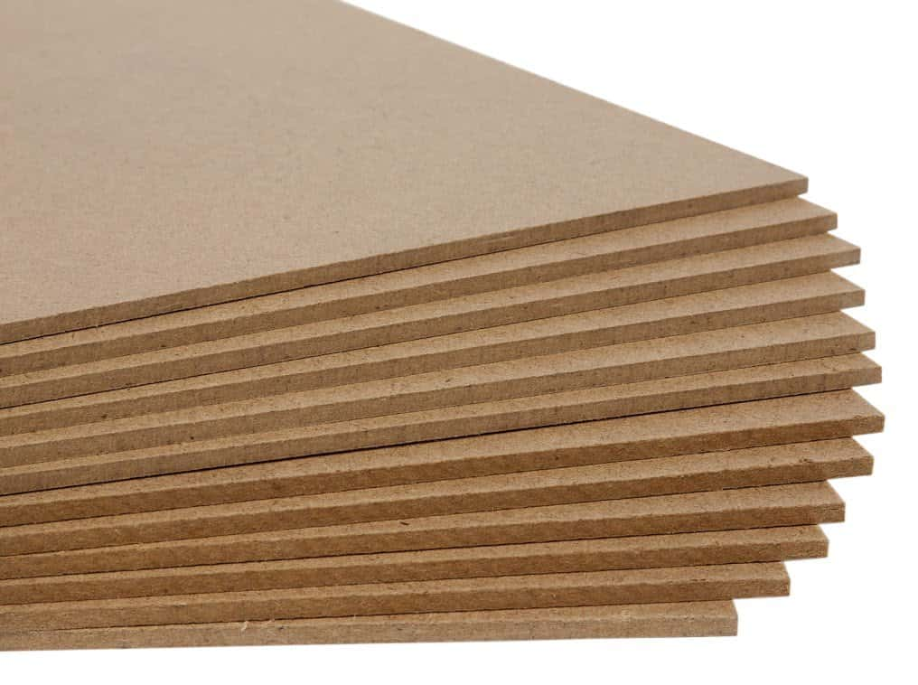 Hardboard with medium density untempered hardboard.