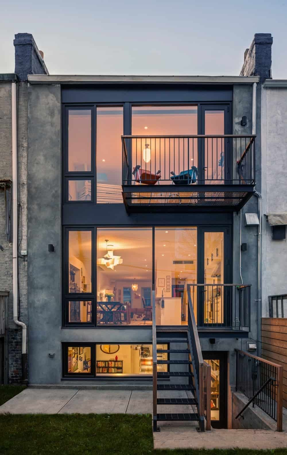 The outdoor view showcases the beautiful built of the house and the balcony area. Photo Credit: Francis Dzikowski/OTTO