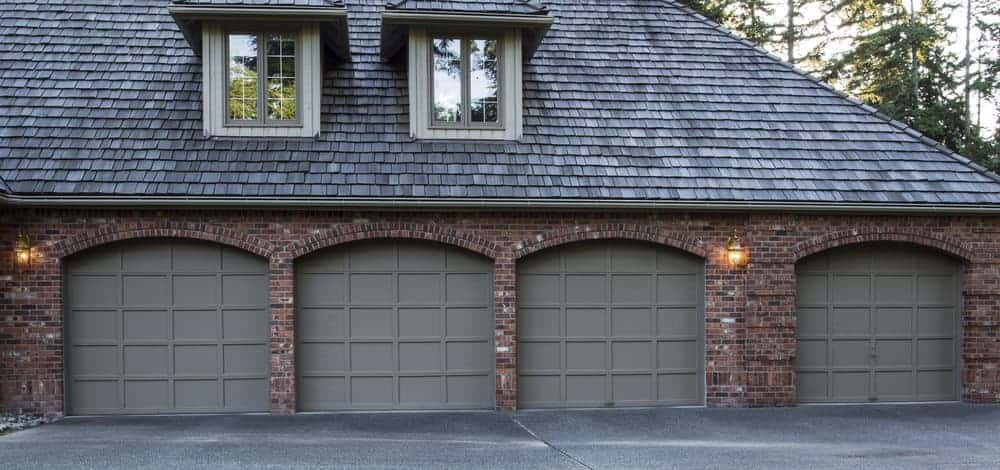 4 car garage with four garage doors