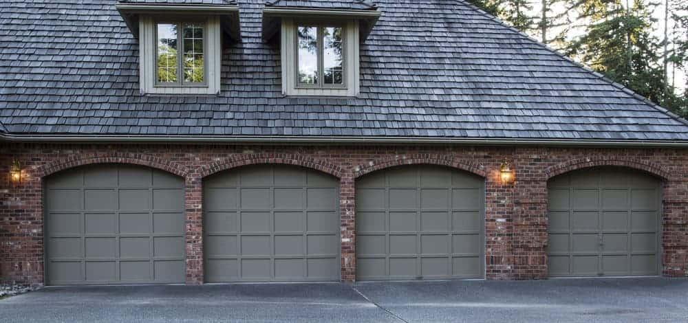 4 car garage with four garage doors