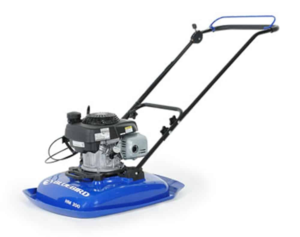 Hover mower with stainless steel blade and a lightweight honda GCV160 4.4 HP engine.