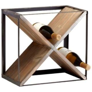 A stylish wine rack.