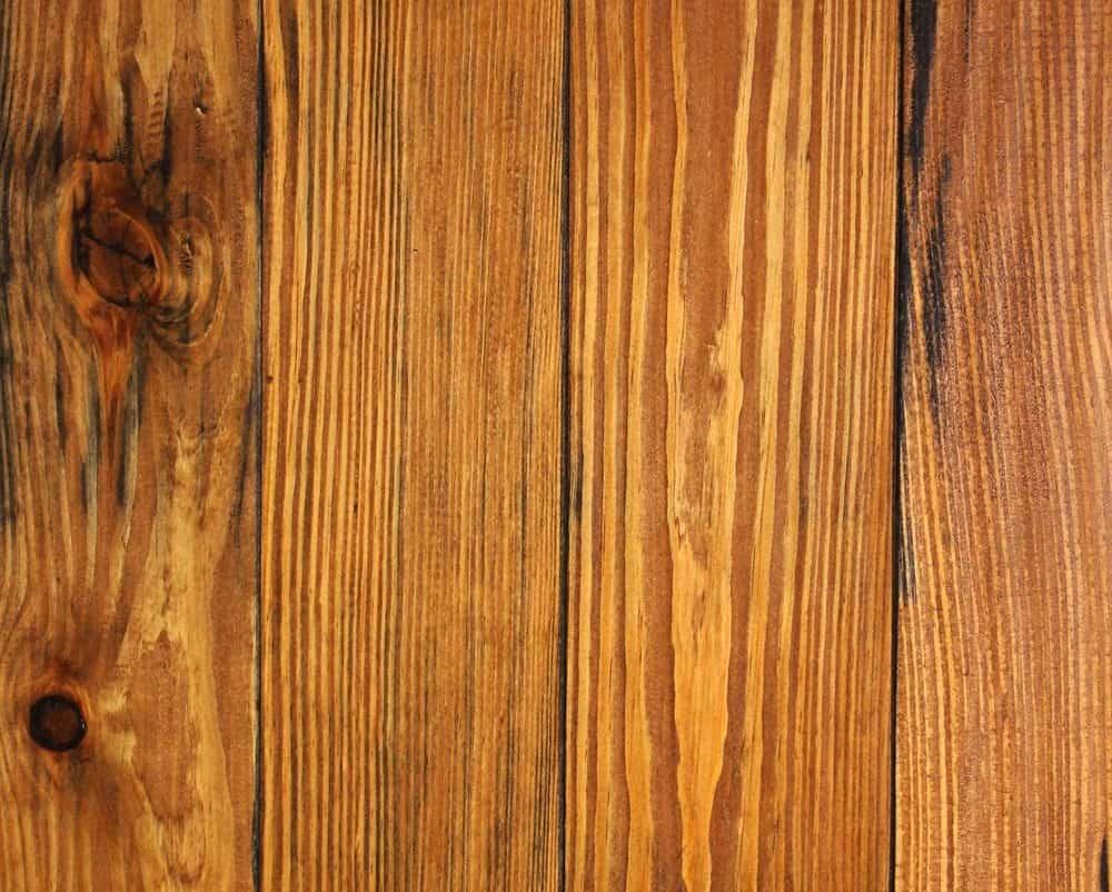 Pine flooring with a medium, honey dew tone.