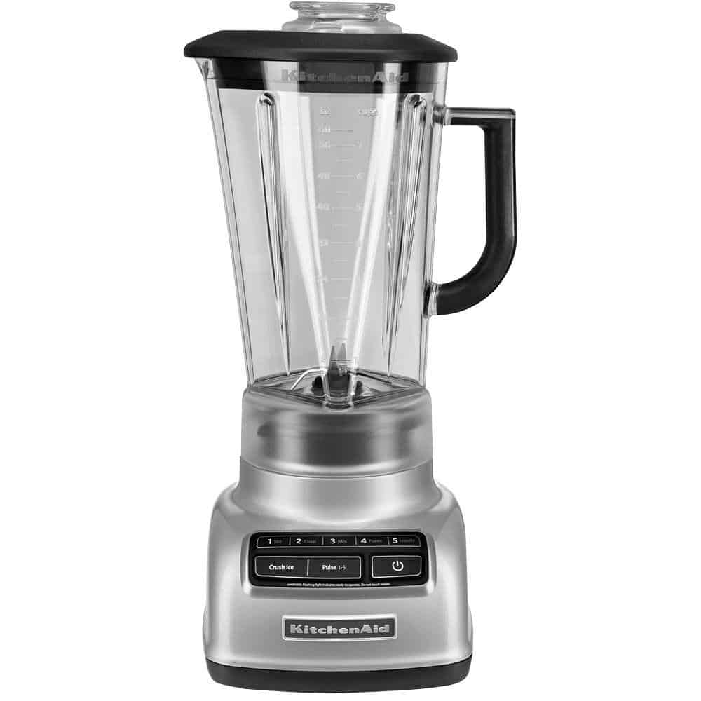KitchenAid metallic chrome blender.