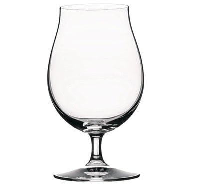 Modern-style, crystal-clear tulip glass.