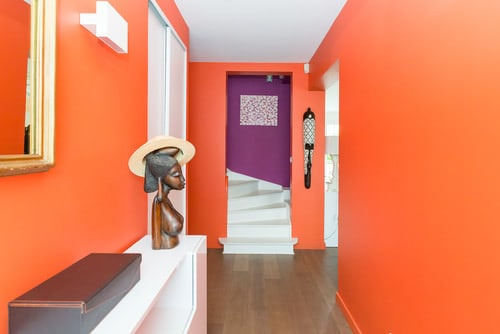 Orange foyer
