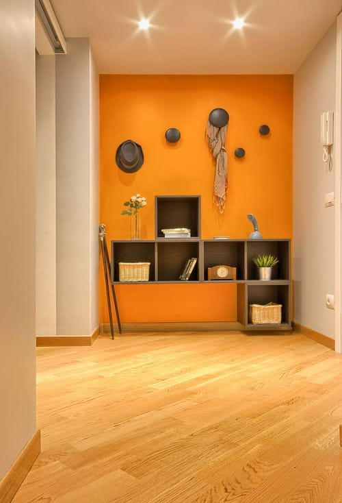 Small orange foyer