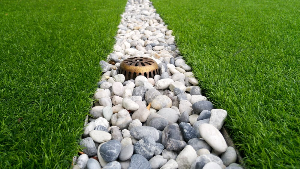 Ground or french gutter installed around the yard.