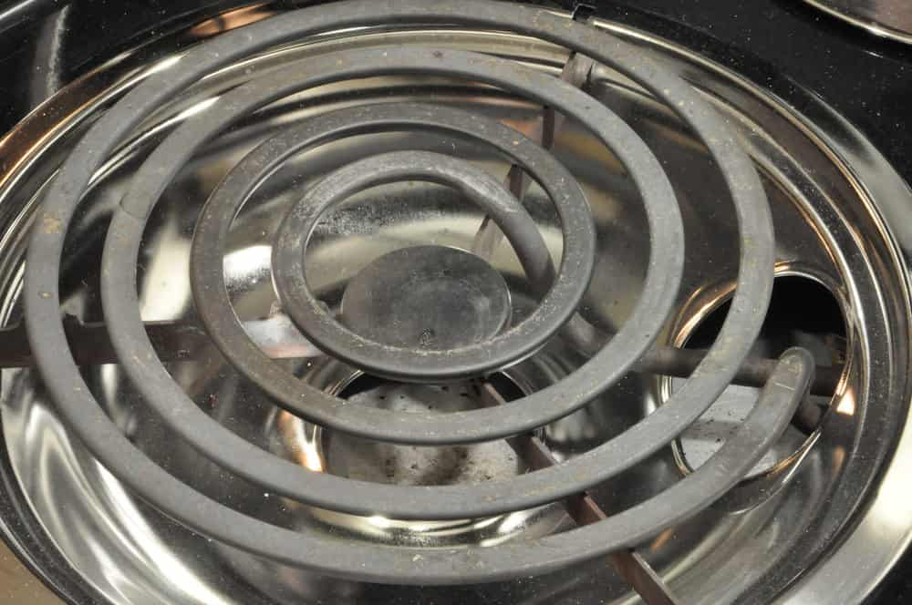 Photo of coil cooktop