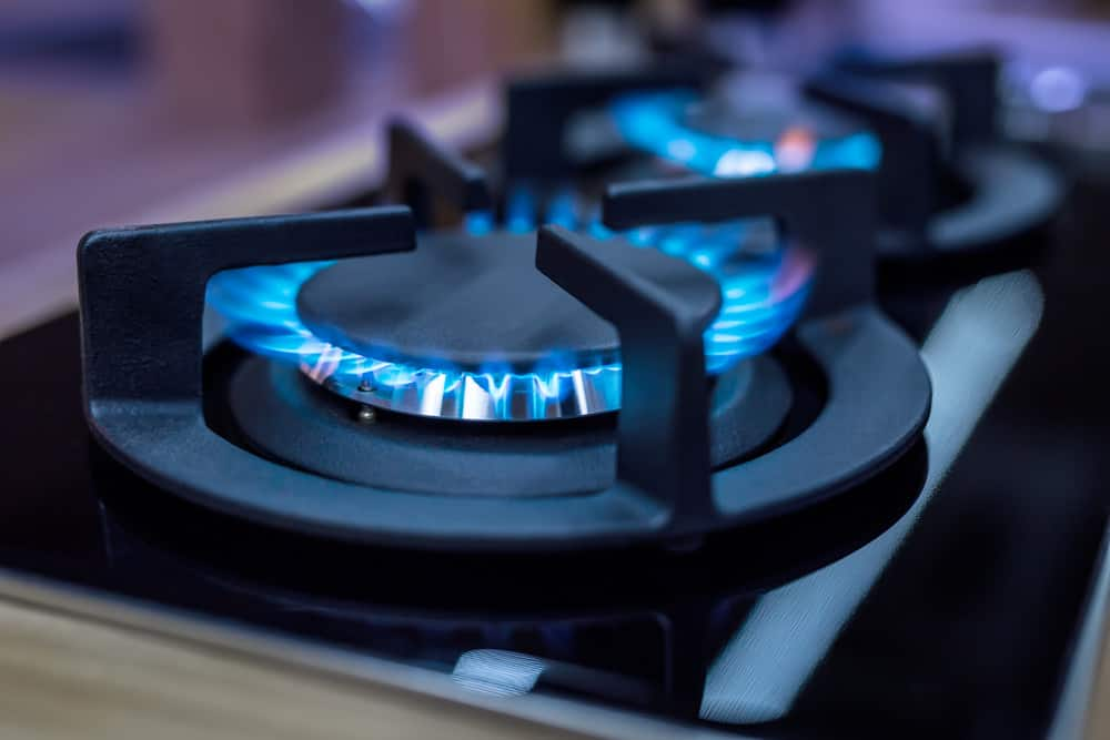 Photo close-up of gas range