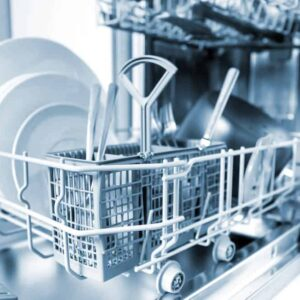 Picture of open dishwasher