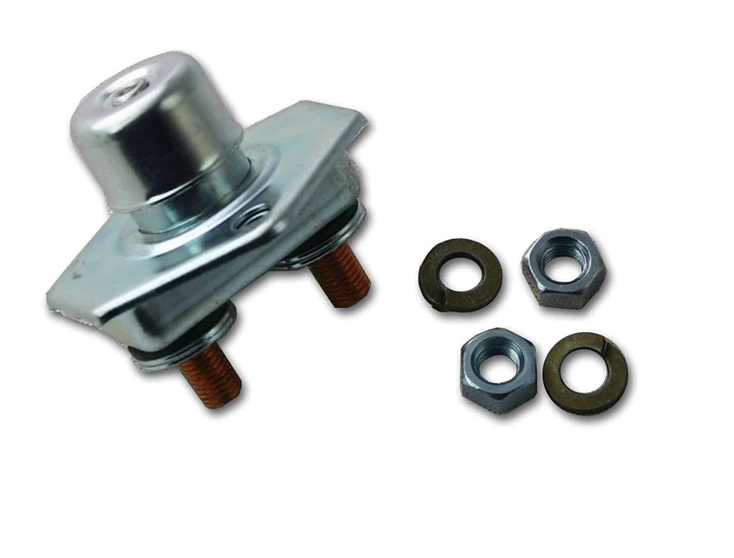 Push button starter switch for lawn mower.