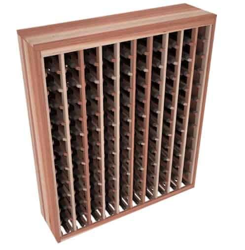 A wooden wine rack.