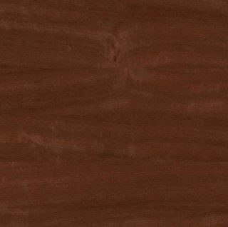 Reddish-brown mahogany countertop.