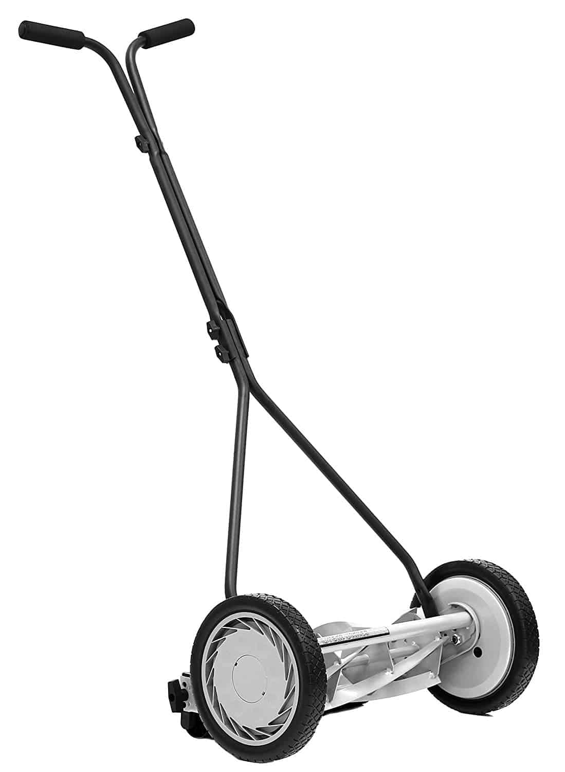 Reel mower standard feature with t-style handle and heat treated blades.
