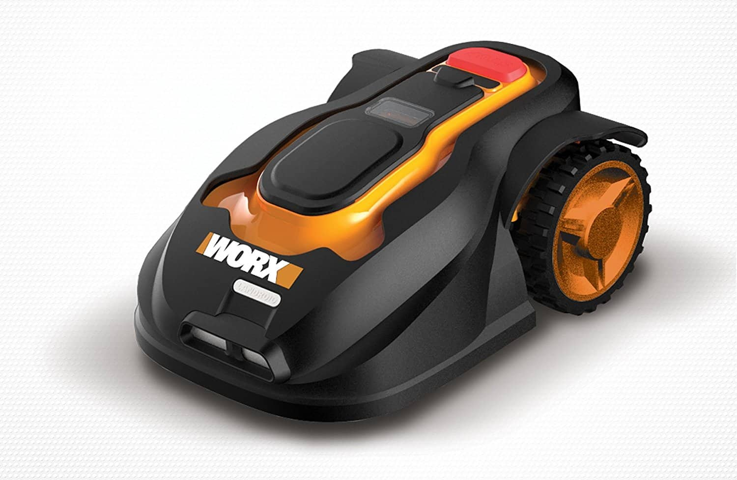 Robotic lawn mower with rain sensor and safety shut-off.