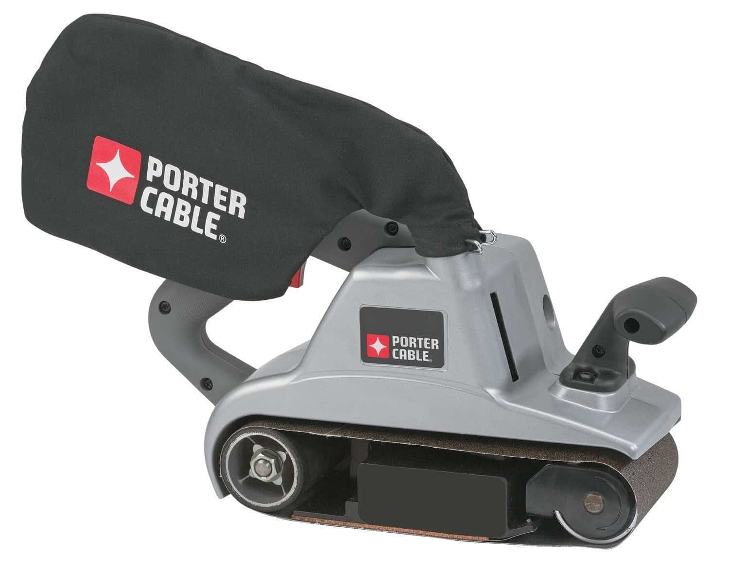 4-inch by 24-inch variable speed belt sander with powerful 12 Amp motor and quick-release belt-change lever.